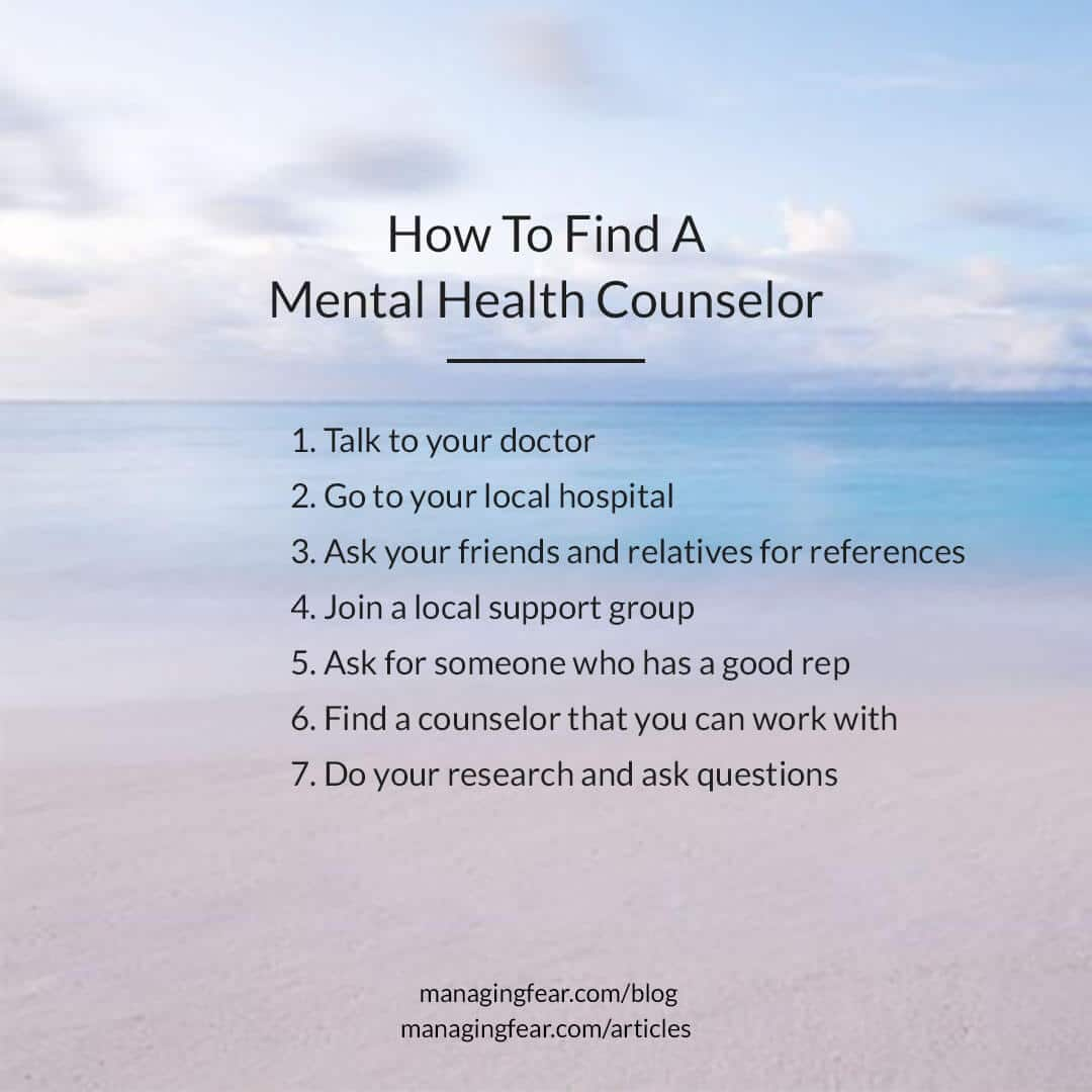 How To Find A Mental Health Counselor