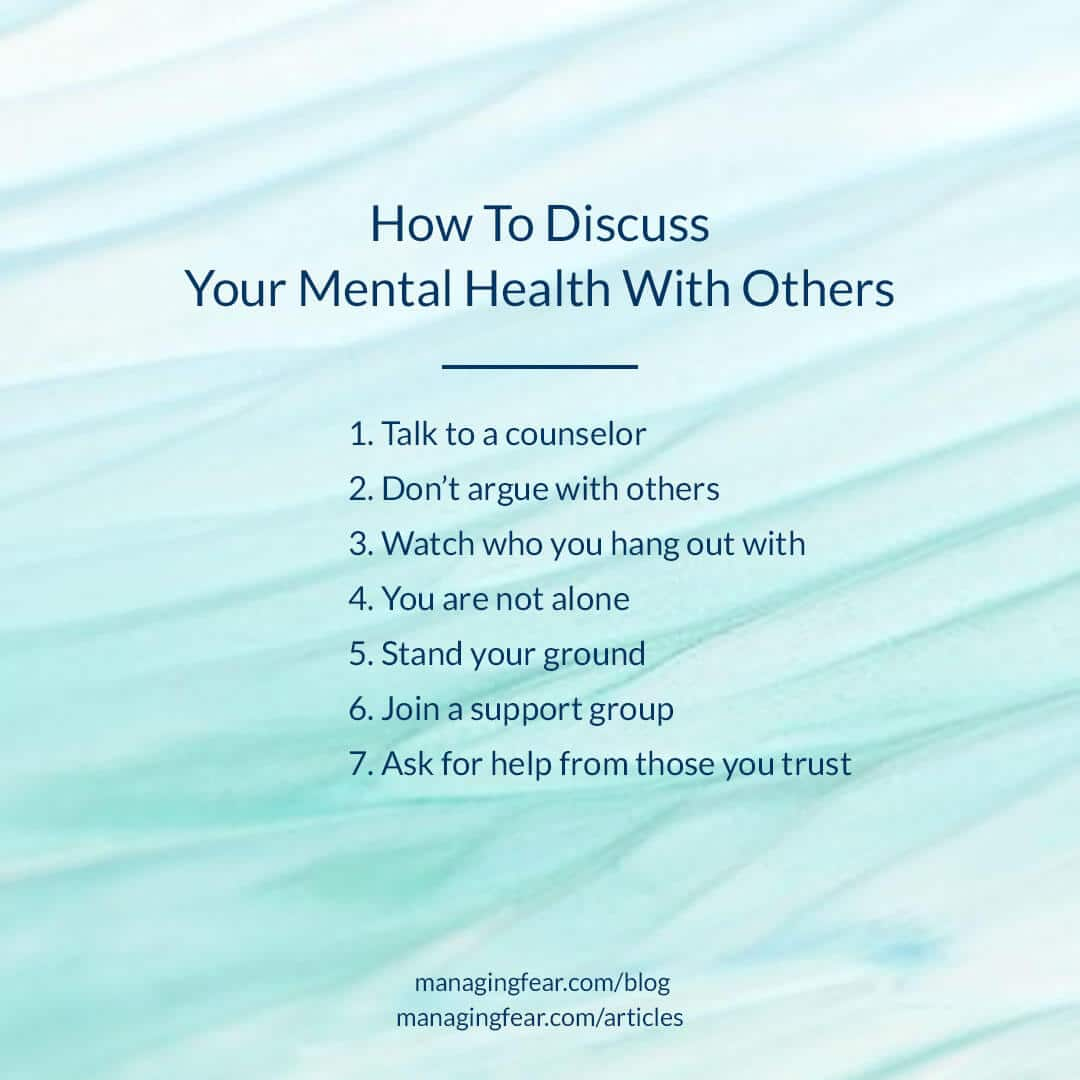 How To Discuss Your Mental Health With Others
