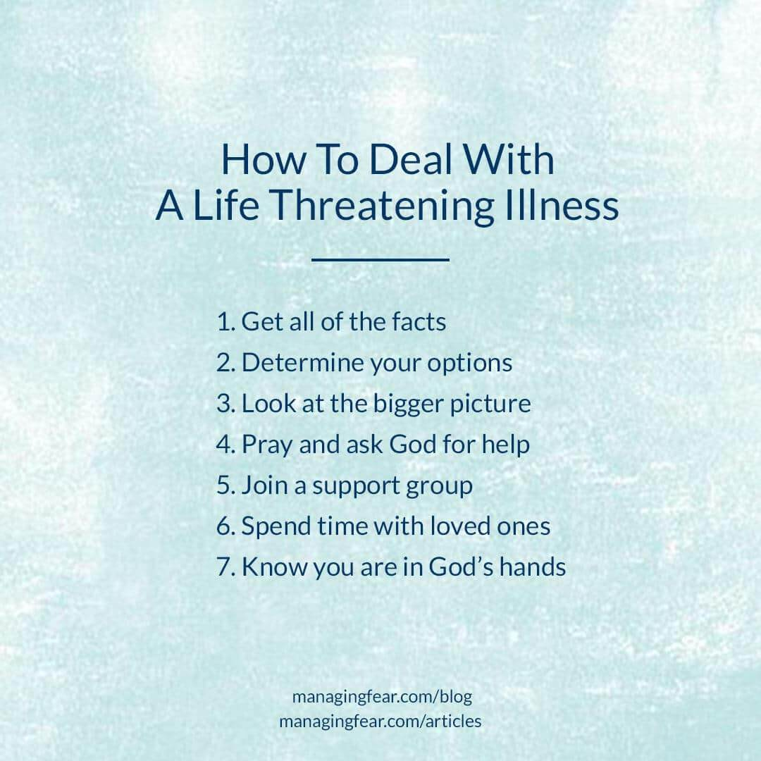 How To Deal With A Life Threatening Illness