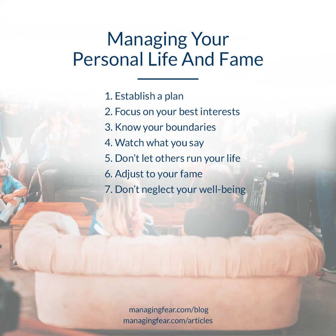 Managing Your Personal Life And Fame