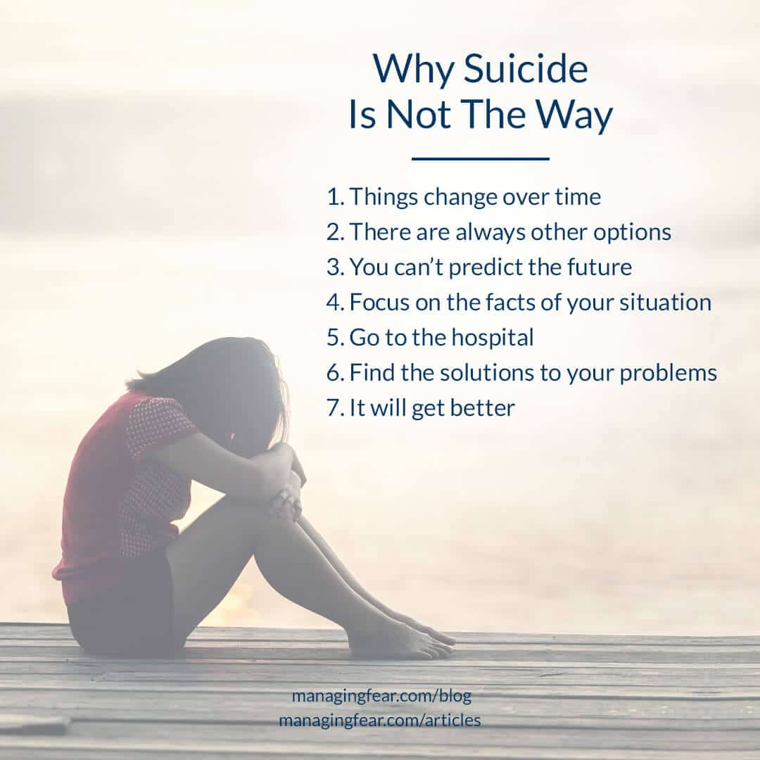 Why Suicide Is Not The Way